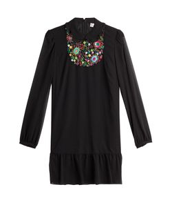 Red Valentino | Embroidered Silk Dress Gr. It 38