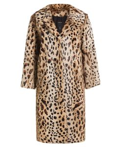 Anna Sui | Animal Print Fur Coat Gr. M