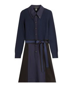 Marc Jacobs | Merino Wool Mixed-Media Shirtdress Gr. Us 0