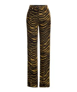 Roberto Cavalli | Velvet Wide Leg Animal Print Pants Gr. It 38