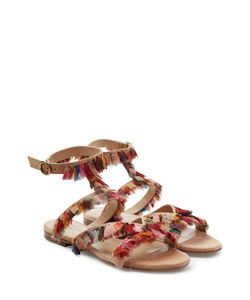 Chloe | Leather Sandals With Fringed Trims Gr. It 40