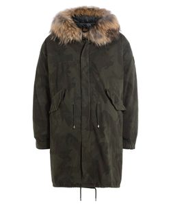 BARBED | Printed Cotton Parka With Fur-Trimmed Hood Gr. M
