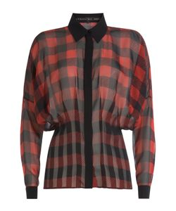 Barbara Bui | Buffalo Plaid Silk Blouse Gr. Fr 40