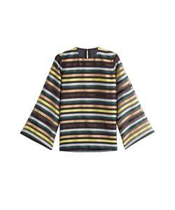 Emilia Wickstead | Striped Top With Silk Gr. Uk 6