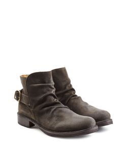 Fiorentini+Baker | Suede Buckle Back Ankle Boots Gr. Eu 40