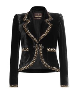 Roberto Cavalli | Velvet Blazer With Embellishment Gr. It 40