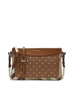 Burberry | Peyton Embellished Shoulder Bag With Leather Gr. One