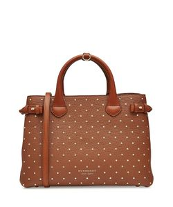 Burberry | Medium Banner Leather Tote With Studs Gr. One