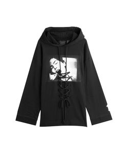 Fenty x Puma by Rihanna | Oversize Printed Cotton Hoody With Lace-Up Front Gr. M