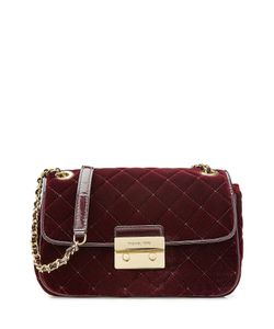 Michael Michael Kors | Quilted Velvet Shoulder Bag With Leather Gr. One