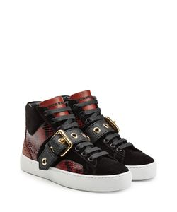 Burberry | Leather High Top Sneakers With Suede And Snakeskin Gr. Eu 36
