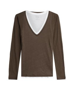 Majestic | Layered Cotton Top With Cashmere Gr. 2