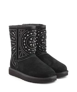 UGG Australia | Fiore Deco Studs Embellished Suede Ankle Boots Gr. Us 7