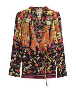 Etro | Printed Silk Blouse With Ruffles Gr. It 48