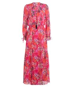 Etro | Printed Cotton Dress With Embellished Tassels Gr. It 44