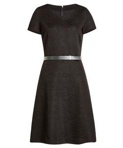 Hugo | Textured Dress With Leather Belt Gr. S