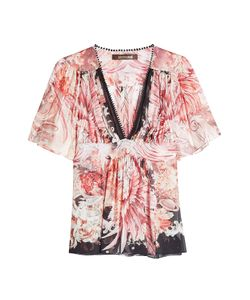 Roberto Cavalli | Printed Silk Top Gr. It 40