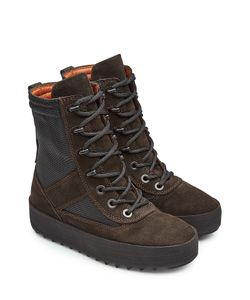 YEEZY | Suede Boots With Mesh Gr. Eu 36