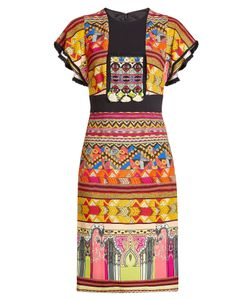 Etro | Printed Dress With Tassels And Fringed Trims Gr. It 40