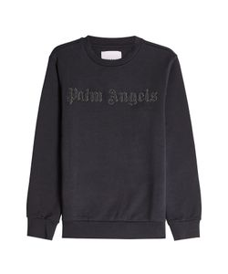 PALM ANGELS   Cotton Sweatshirt With Embellished Logo Gr. S