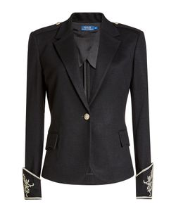Polo Ralph Lauren | Wool Jacket With Embellishment Gr. Us 8