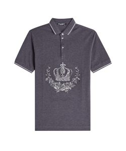 Dolce & Gabbana | Embroidered Cotton Polo Shirt Gr. Eu 48
