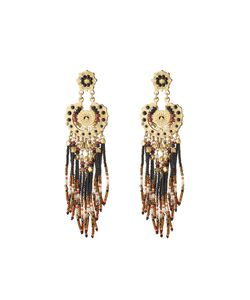 GAS BIJOUX | 24kt Plated Earrings With Bead Embellishment Gr. One