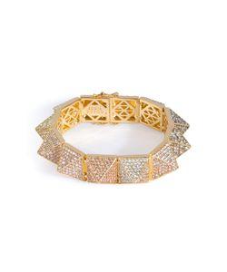 Eddie Borgo | -Plated Pyramid Bracelet With Crystal Embellishment Gr. 7