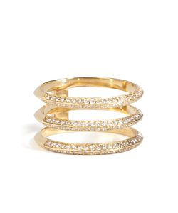 Ileana Makri | 18kt Triple Disc Ring With Diamonds Gr. One