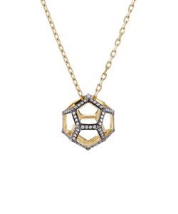 Noor Fares | 18k Dodecohedron Pendant Necklace With Diamonds Gr. One