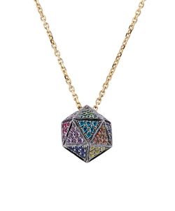 Noor Fares | 18kt Icosagon Pendant Necklace With Diamonds Gr. One