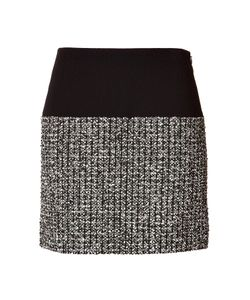 Bouchra Jarrar | Wool-Cotton Skirt With Tweed Panel Gr. Fr 38