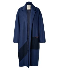 Roksanda Ilincic | Larkin Wool Coat In Navy Gr. M
