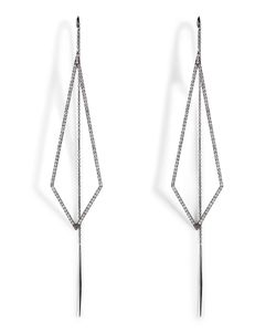Diane Kordas | 18k Triangular Drop Earrings Gr. One
