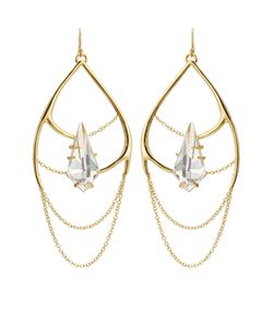 Alexis Bittar | Kinetic Draping Plated Chain Earrings Gr. One