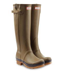 Hunter   Tall Wellington Boots With Zipper Gr. Uk 4