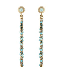 Carolina Bucci | Magic Wand 18kt Earrings With Turquoise Opal And Diamonds Gr. One