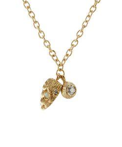 Carolina Bucci | Owls Eye Wing 18k Necklace With Diamond Gr. One