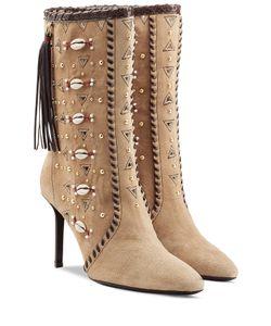 TAMARA MELLON | Embellished Bohemia Suede Boots Gr. It 38.5
