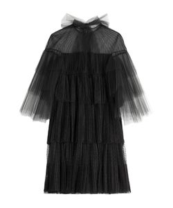 Valentino | Tiered Tulle Dress With Point Desprit Gr. It 42