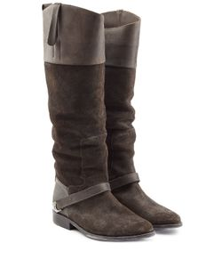 Golden Goose | Leather-Suede Riding Boots Gr. It 37