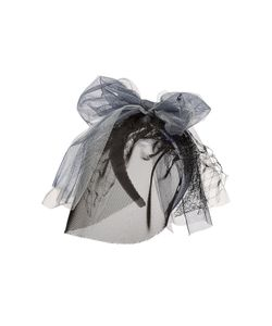 Maison Michel | Headband With Mesh Veil Lace And Oversize Bow Gr. One