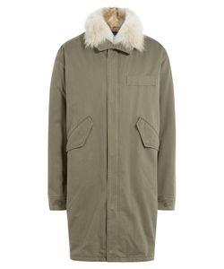 Yves Salomon | Cotton Parka With Fur Collar Gr. Eu 54