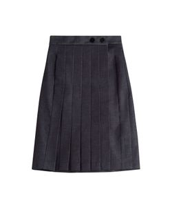 Victoria Beckham Denim | Pleated Denim Skirt Gr. Uk 12