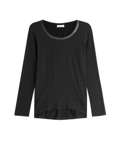 Splendid | Jersey Top With Faux Leather Trim Gr. S