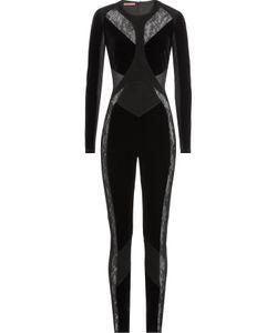 TAMARA MELLON | Suede Velvet And Lace Jumpsuit Gr. Us 0