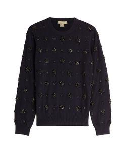 Michael Kors | Embellished Cashmere Pullover Gr. S