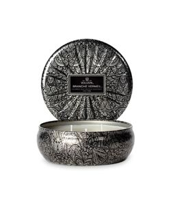 Voluspa | Triple Wick Branche Vermeil Candle In Embossed Tin Gr. One