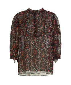 Anna Sui | Printed Silk Blouse Gr. Us 10