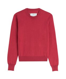 Maison Margiela | Cotton Pullover With Leather Elbow Patches Gr. M
